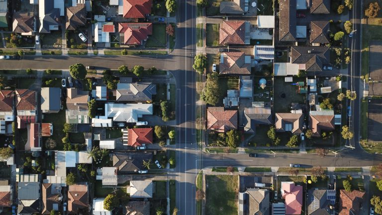 top-view photography of houses at daytime