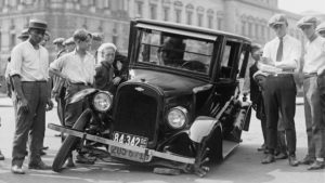 Photo of broken down Ford Model T